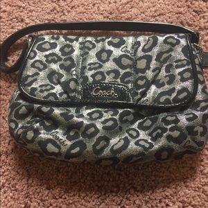 Coach small, metallic handbag